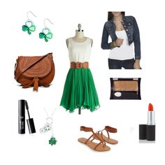 Casual chic entry in the St. Patrick's Day fashion challenge #style #fashion #contest