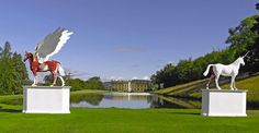 Damian Hurst sculptures at Chatsworth House