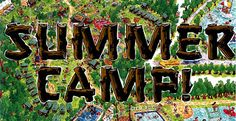 Share your most cherished summer camp tales. English Language Classes, Camp Logo, The Great Outdoors, Neon Signs, Camping, Activities, Summer, Bucket, Spaces