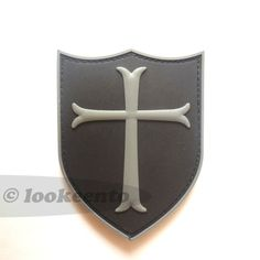 US Navy Seals Team 6 DEVGRU PVC 3D velcro patch showing the Crusaders red cross shield. Freeshipping worldwide. $9.95