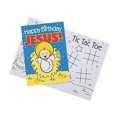 Help celebrate Jesus' birthday with these fun activity books! A great addition to your religious Christmas supplies, these cute kids' books ar. Happy Birthday Jesus, Happy Birthday Gifts, Birthday For Him, Happy Birthday Funny, Happy Birthday Quotes, Birthday Party Favors, Birthday Wishes, Birthday Ideas, Birthday Cards