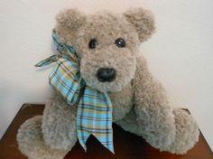 Teddy Bear Hand Knitted in Latte Tan Fur Like Yarn by KatesCache, $15.00