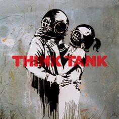 """Blur's """"Think Tank"""" with cover art by Banksy."""