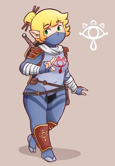 My rule 63 Link in sheikah garb.