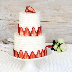 Hochzeits-Erdbeer-Tower