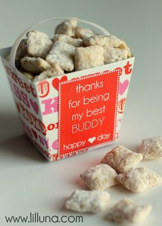Muddy Buddy Valentines. Cute idea with free prints on { lilluna.com }