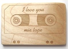 I Love You Mix Tape wooden teether: Love this so much!