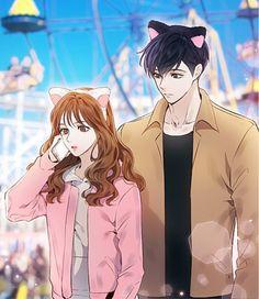 사랑을 말할 때- Chapter 53 Manga Couple, Anime Love Couple, Anime Couples Manga, I Love Anime, Cute Couple Art, Cute Couples, Anime Art Girl, Manga Art, Character Art