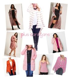 """""""Plus Size Cardigans"""" by omareltokhey on Polyvore featuring Forever 21, Karen Scott, Avenue, Hot Ginger, Peony and plus size clothing"""