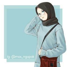 Cartoon Kunst, Cartoon Art, Hijab Anime, Cover Wattpad, Hijab Drawing, Chibi, Islamic Cartoon, Bff Drawings, Hijab Cartoon