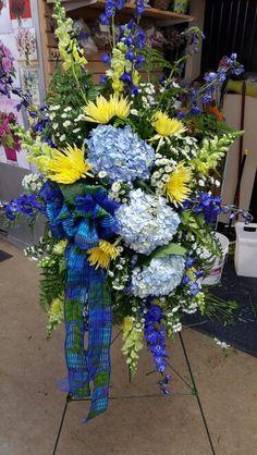 Gallery Florist & Gifts, Inc Casket Flowers, Grave Flowers, Cemetery Flowers, Funeral Flowers, Flowers To Go, Flowers For Men, Funeral Floral Arrangements, Flower Arrangements, Petals Florist