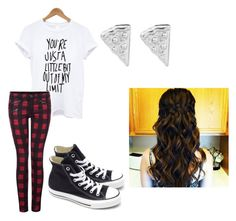 """""""Untitled #19"""" by haileyhaihai ❤ liked on Polyvore featuring Dex, Converse and Rock 'N Rose"""