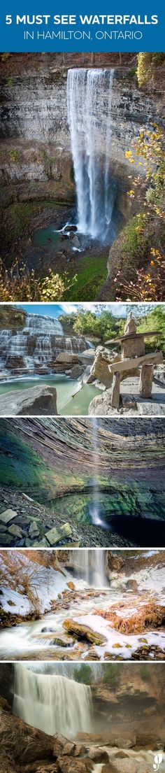 5 must-see waterfalls in Hamilton, Ontario. Places Around The World, Oh The Places You'll Go, Places To Travel, Places To Visit, Around The Worlds, Montreal, Vancouver, Banff, Dream Vacations