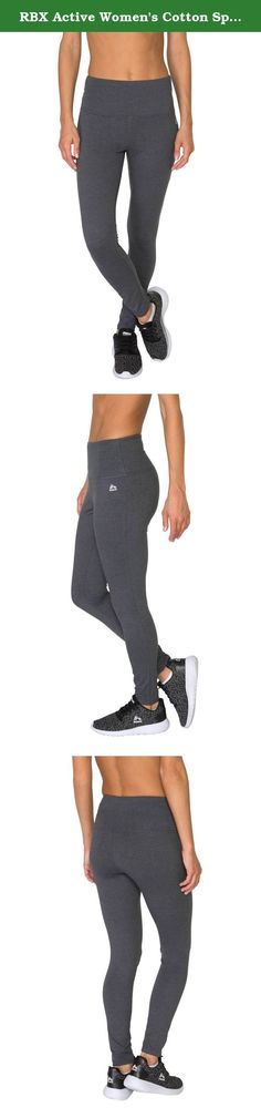 RBX Active Women's Cotton Spandex Tummy Control Workout Legging. Fitted high waisted leggings constructed for support and performance enhancing coverage. A tight compression fit that hugs your figure adds safety while providing a full range of motion. These body contouring leggings are prepared to push your limits.