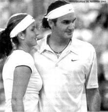 Jan. 1, 2002 – Roger Federer and his future wife Mirka Vavrinec complete play representing Switzerland at the Hopman Cup, the official mixed team competition of the International Tennis Federation, as the Spanish team of Arantxa Sanchez Vicario and Tommy Robredo eliminate Switzerland from contention with a 3-0 victory in Perth, Australia.