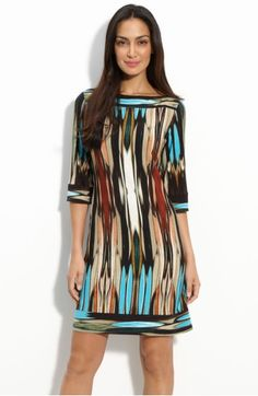 I am diggin' this Donna Morgan jersey dress. LOVE the colors. Casual Dresses, Short Dresses, Summer Dresses, Maxi Dresses, Hijab Fashion, Fashion Dresses, Mode Hijab, Nordstrom Dresses, New Dress