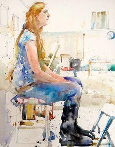 Watercolor Figurative Paintings by Charles Reid | Cuded