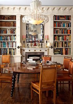 Chester Jones  A Library Dining Room, Kensington  © Montgomery / Photographer: Montgomery