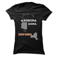 Arizona Girl In A NY World! - #tshirt diy #oversized tshirt. GET YOURS => https://www.sunfrog.com/States/Arizona-Girl-In-A-NY-World-Black-Ladies.html?68278