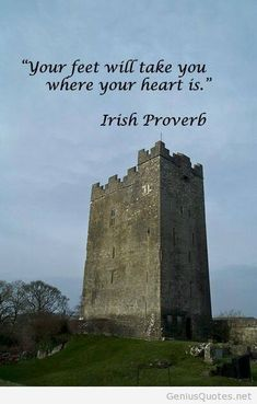 """""""Your feet will take you where your heart is."""" -- Irish Proverb – Image taken in Ireland by F. McGinn – I find this fitting, since I've always felt like my heart is in Ireland. Great Quotes, Quotes To Live By, Me Quotes, Inspirational Quotes, Bird Quotes, Motivational, Wanderlust Quotes, Travel Quotes, Wanderlust Travel"""