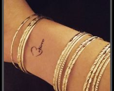 heart with swirly vines fake tattoo temporary by SharonHArtDesigns