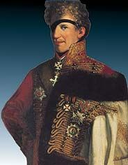 Count Adam Albert von Neipperg, 2nd and morganatic husband of Empress Marie Louise.  They became lovers while Napoleon was in exile, marrying after his death.  They had 3 children, 2 born before the marriage.  When von Neipperg died, the empress, then Duchess of Parma, was not allowed to mourn him in public.