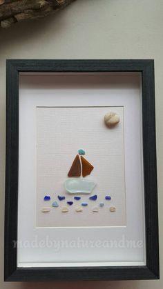 Arte de velero de cristal de único mar velero de cristal de