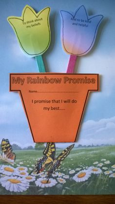 Rainbow Promise Flower Pot Craft