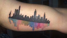 Nyc skyline tattoo ideas google search tattoos for Las vegas skyline tattoo