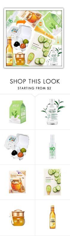 """Skin solutions"" by beanpod ❤ liked on Polyvore featuring beauty, Holika Holika, SkinCare, Skinfood and TONYMOLY"
