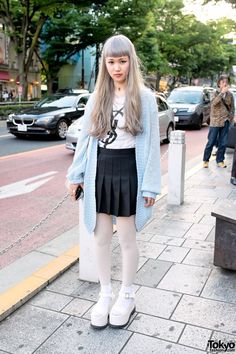 Knit Sweater  Cheerleader Skirt in Harajuku