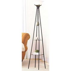 this floor lamp could be multi-purpose as a corner unit for additional decor display