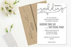 18 Simple and Inexpensive Wedding Invitations that we love! Inexpensive Wedding Invitations, Inexpensive Wedding Venues, Typography Wedding Invitations, Custom Wedding Invitations, Wedding Blog, Diy Wedding, Wedding Planner, Wedding Ideas, Low Cost Wedding
