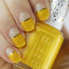essie, essie's 1000th shade, essie aim to misbehave, essie nail art, essie yellow polish, yellow nail polish