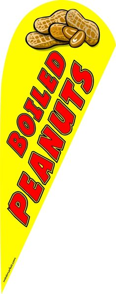 Boiled peanuts feather flag kit - Click Image to Close