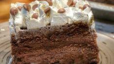 Η πιο εύκολη σοκολατίνα με κρέμα ζαχαροπλαστικής και σαντιγί Greek Recipes, Wedding Cakes, Desserts, Food, Wedding Gown Cakes, Tailgate Desserts, Deserts, Essen, Greek Food Recipes