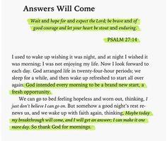 Thank God for mornings