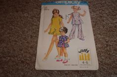 vintage sewing pattern simplicity 8717 childrens by robinsvintage, $3.00