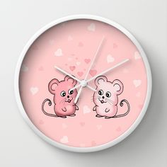 Mice Love Wall Clock