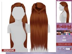 Sims 4 Updates: REDHEADSIMS – Coupure Electrique - Hairstyles : LEAH LILITH ARI HAIR KIDS AND TODDLER VERSION by Thiago Mitchell, Custom Content Download!
