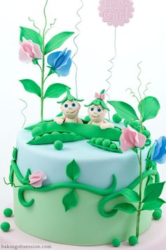 2 peas in a pod cake ... for twins :)
