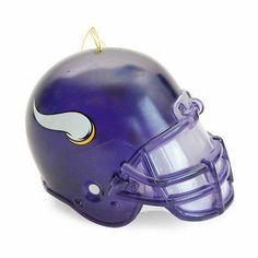 Minnesota Vikings Light Up Team Helmet Ornament Visit our website for more: www.thesportszoneri.com