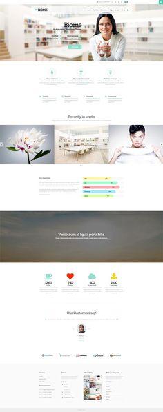 Biome : Multipurpose One Page WordPress Theme