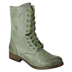 Women's Fashion Combat Boot Troop - Green