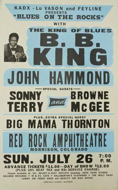 B. B. King and Big Mama Thornton concert poster.