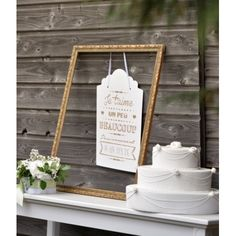 Pancarte je t'aime blanche en carton 46 cm Deco Table, Decoration, Ladder Decor, Lettering, Home Decor, Decor, Decoration Home, Room Decor, Drawing Letters