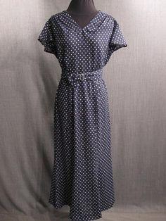 09034904 Dress Womens 1930s peach dot silk rust wool B36 W25 H36 ...