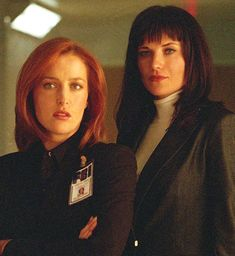 X Files Gillian Anderson, Lucy Lawless