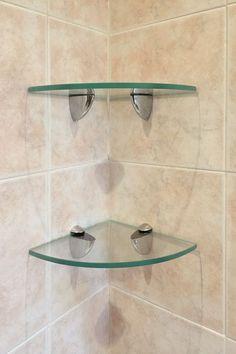 26 Ideas Bathroom Shower Over Bath Shelves Glass Shelves In Bathroom, Bathroom Doors, Bathroom Flooring, Small Bathroom, Glass Shower Shelves, Shower Over Bath, Shower Niche, Door Shelves, Glass Shower Doors