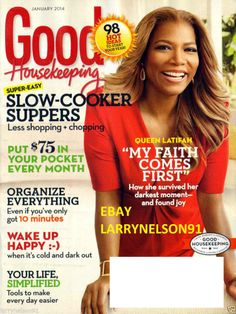 GOOD HOUSEKEEPING MAGAZINE JANUARY 2014 QUEEN LATIFAH SLOW COOKER RECIPES HAPPY
